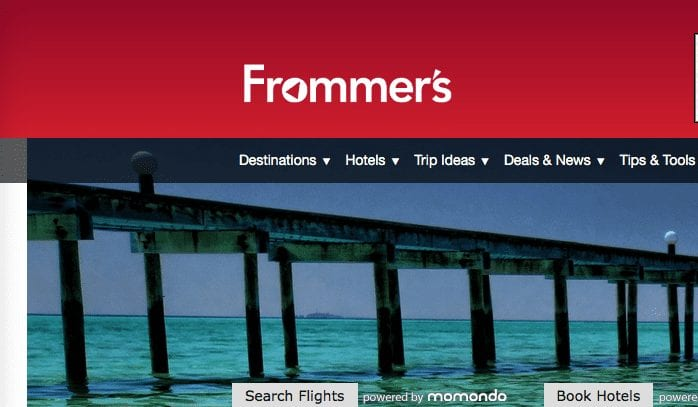 Frommer's website screenshot.