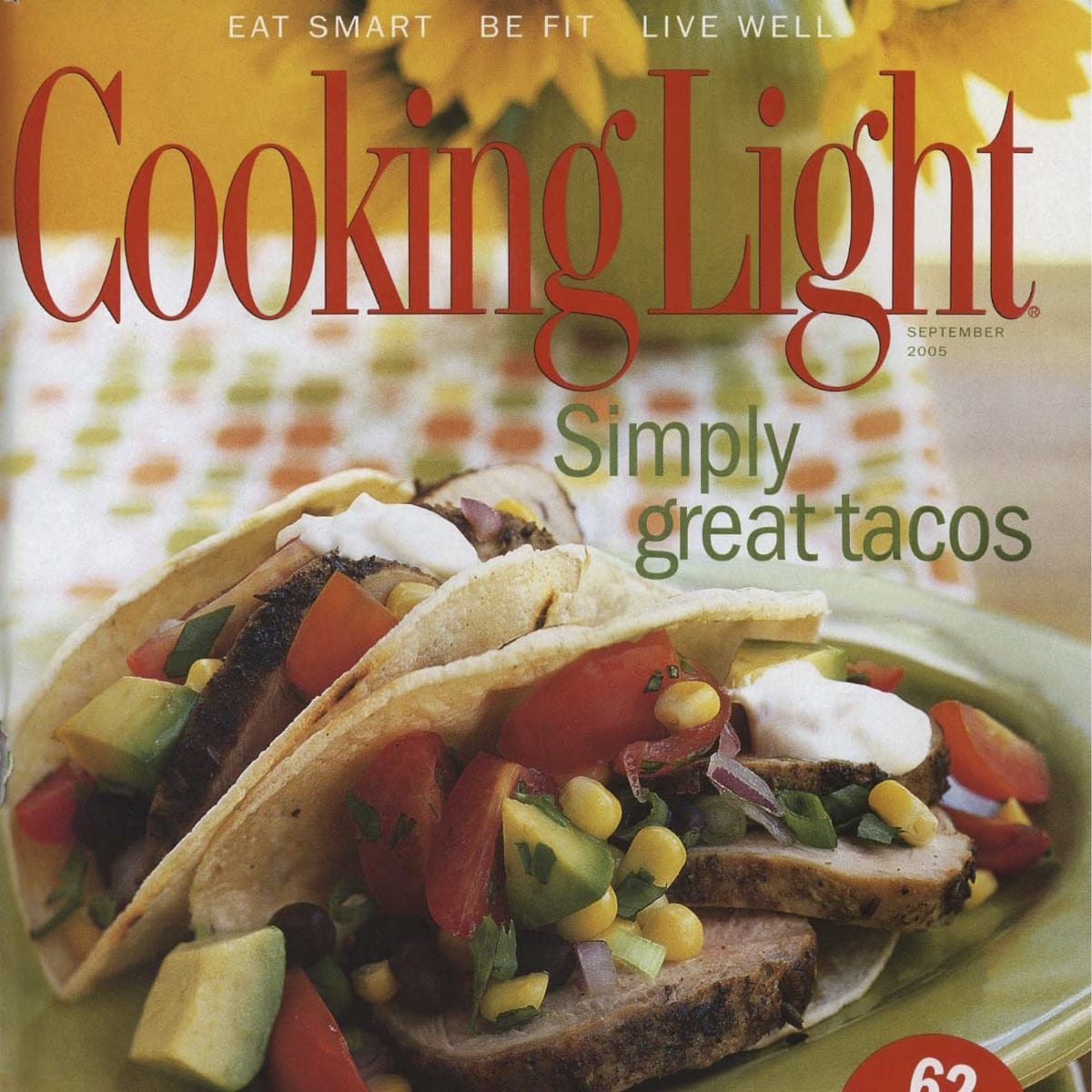Cooking Light magazine cover.