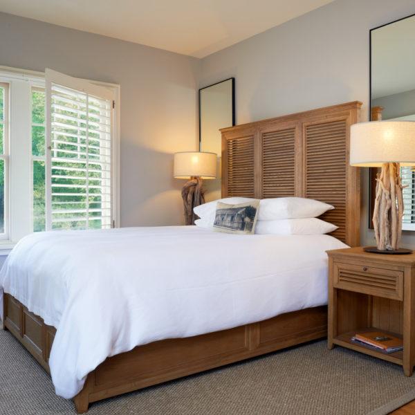 Standard Queen bed.