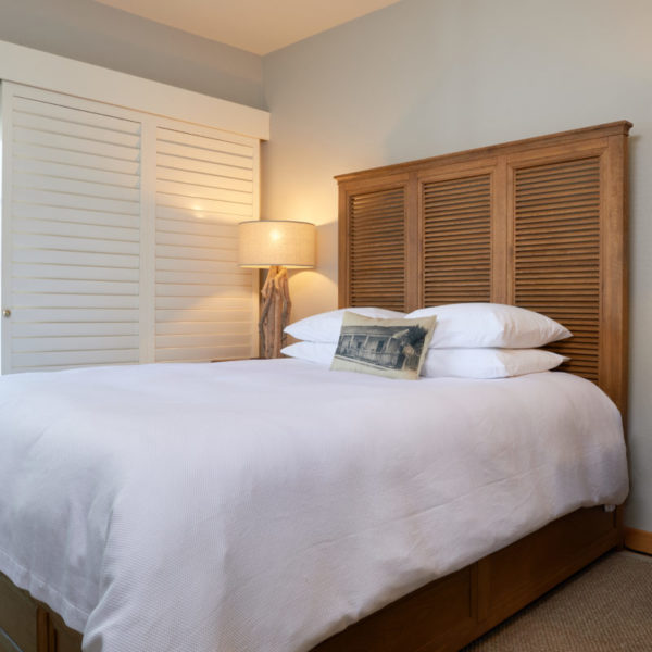 Plaza room with Queen bed.
