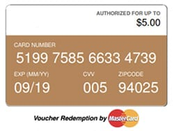 Gift Card voucher image.