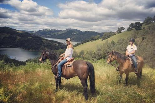 Photo of a Small Group Horseback Riding near Sonoma.