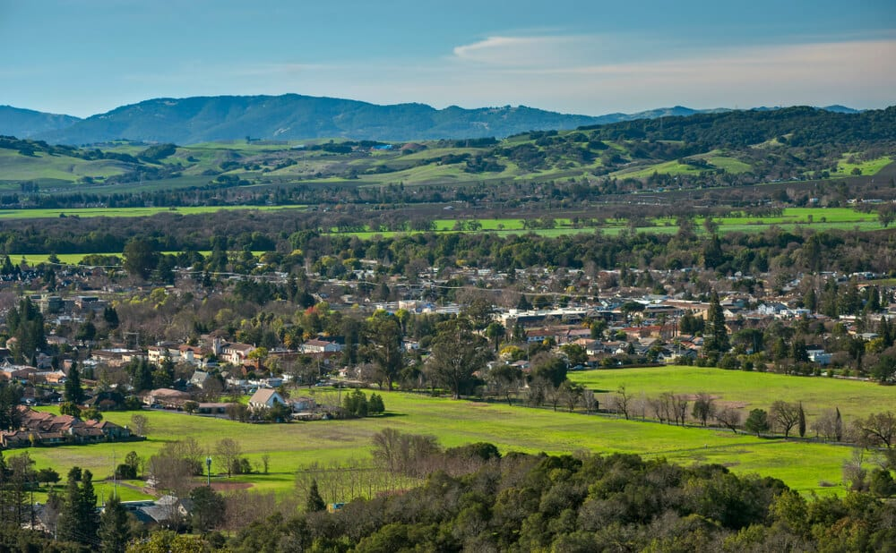 Photo of the Sonoma Overlook, the Best Place to Go Hiking in Sonoma, CA.