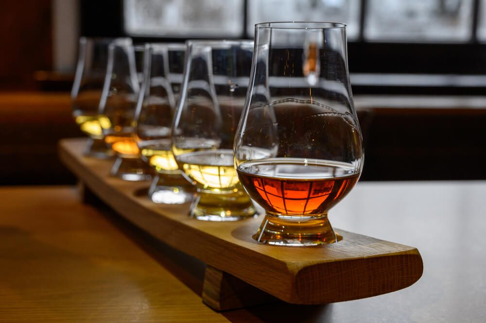 A photo of whiskey at a Sonoma County distillery